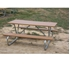 "Picture of 6 ft Recycled Plastic Picnic Table - Bolted 1 5/8"" Frame - Portable"