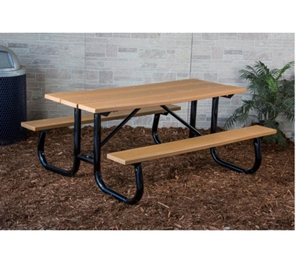 Picture of 6 ft Recycled Plastic Picnic Table - Welded Frame - Portable