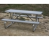8 Ft Aluminum Picnic Table - Bolted Steel Frame - Portable