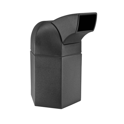 45 Gallon Plastic Trash Receptacle with Drive-Thru Top