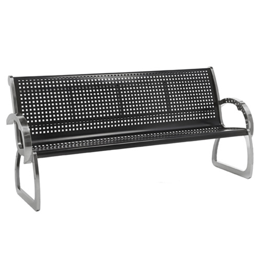 Ft Bench With Back Powder Coated Steel Portable By Park Tables - 4 foot stainless steel table