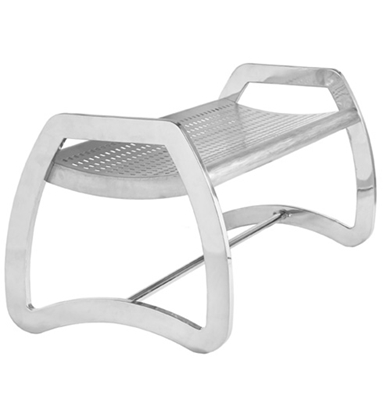 Picture of 4 Foot Stainless Steel Backless Bench - Portable