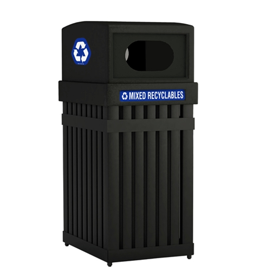 Picture of 25 Gallon Steel Recycling Trash Can