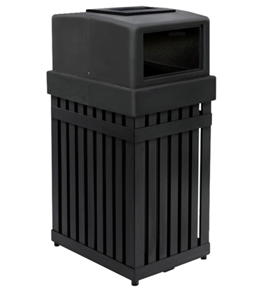 Picture of 25 Gallon Steel Trash Can with Ashtray Top