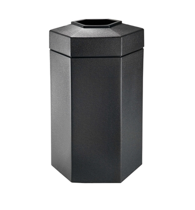 Picture of 50 Gallon Plastic Trash Can - Hexagon Design - Portable