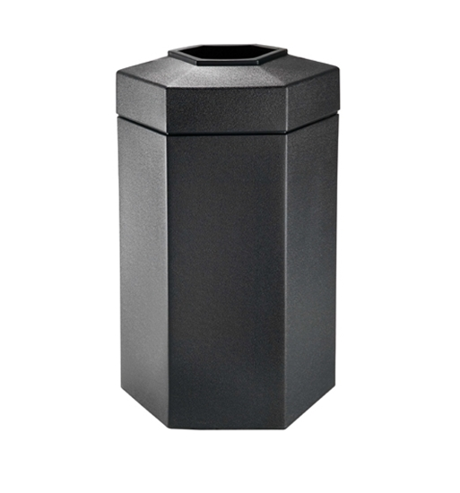 50 Gallon Plastic Trash Can - Hexagon Design