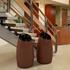 15 Gallon Polyethylene Trash Can with Wood Finish