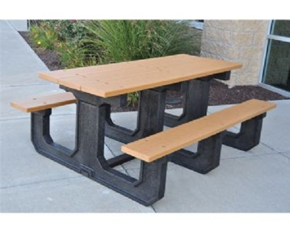 Picture of 8 Ft. Rectangular Recycled Plastic Bench - Quick Ship - Portable