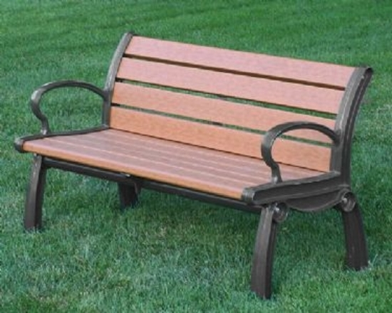 Picture of 4 ft. Recycled Plastic Bench - Quick Ship - Portable