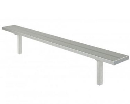 Picture of 7.5 ft. All Aluminum Player's Bench without Back - Quick Ship - Inground Mount