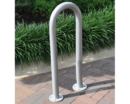 Picture of 3 Space Single Wave Bike Rack - Quick Ship - Galvanized - In-ground or Surface Mount