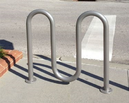 Picture of 5 Space Single Wave Bike Rack - Quick Ship - Galvanized - In-ground or Surface Mount