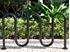 Picture of 7 Space Single Wave Bike Rack - Quick Ship - Black Powder Coated - In-ground or Surface Mount