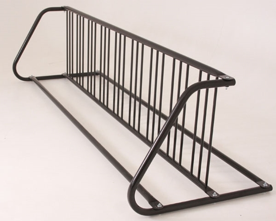 Picture of 18 Space Grid Bike Rack, Galvanized or Powder Coated Steel - Quick Ship