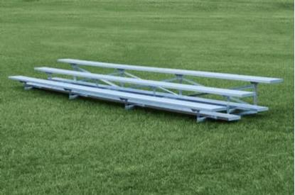 Picture of 15 Foot 3 Row Aluminum Bleacher - Quick Ship - Portable