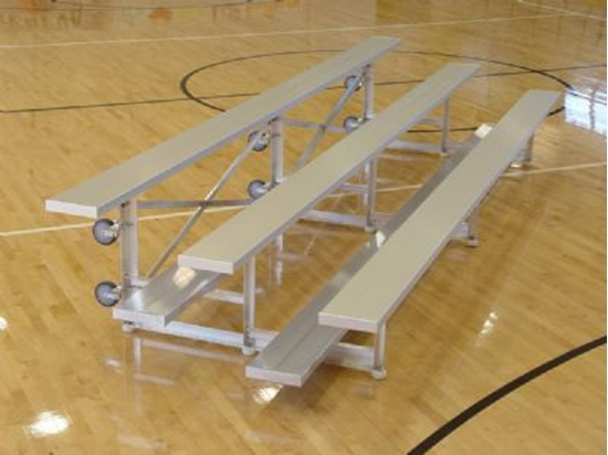 Picture of 15 Foot 3 Row Aluminum Tip and Roll Bleacher - Quick Ship - Portable
