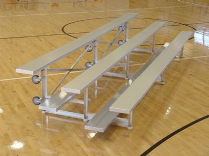 Picture of 27 Foot 3 Row Aluminum Tip and Roll Bleacher - Quick Ship - Portable