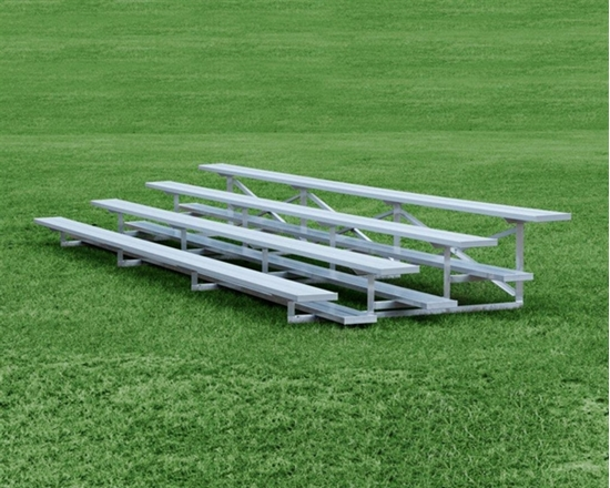 Picture of 15 Foot 4 Row Aluminum Bleacher - Quick Ship - Portable