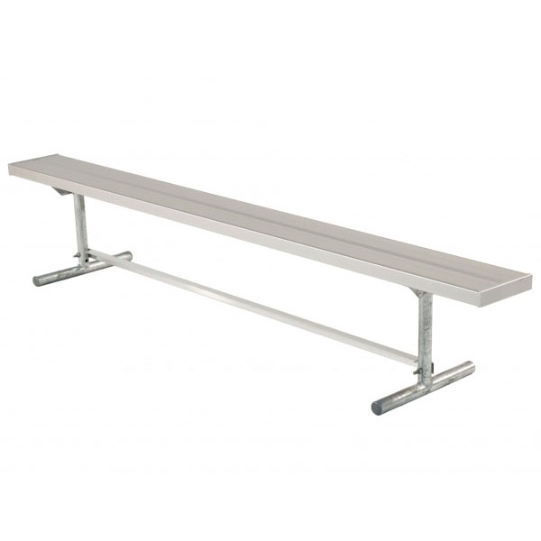 21 Ft Aluminum Player S Bench Without Back Quick Ship