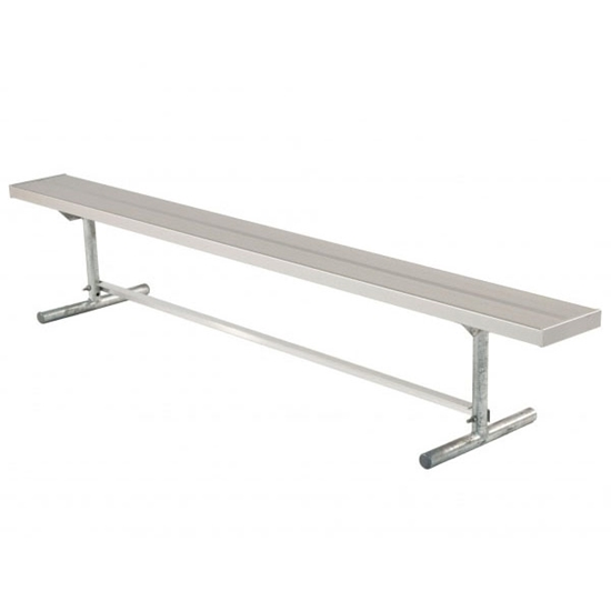 Picture of 27 ft. Aluminum Player's Bench without Back - Quick Ship - Portable
