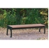 8 Ft. Recycled Plastic Bench Without Back And Steel Frame - Surface Mount - Portable