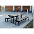 Picture of 8 Ft. Recycled Plastic Picnic Table with Powder Coated Steel Frame - Portable / Surface Mount
