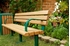 Picture of 8 Ft. Recycled Bench - Steel Frame - In-Ground or Surface Mount