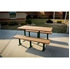 Picture of Rectangular 8 Ft. Recycled Plastic Picnic Table - Steel Frame - Inground or Surface Mount