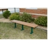 Picture of 6 Ft. Recycled Plastic Bench without Back - Steel Frame - Inground or Surface Mount