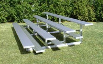 Picture of 7 ft. Low Rise 4 Row Bleachers - All Aluminum