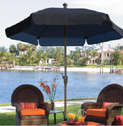 Picture of 7 1/2 ft. Hexagon Market Umbrella - Texilene Vinyl Coated Fabric - Two Piece Pole