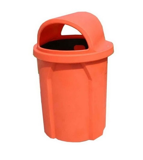 Picture of 42 Gallon Trash Can with 2 Way Lid and Liner