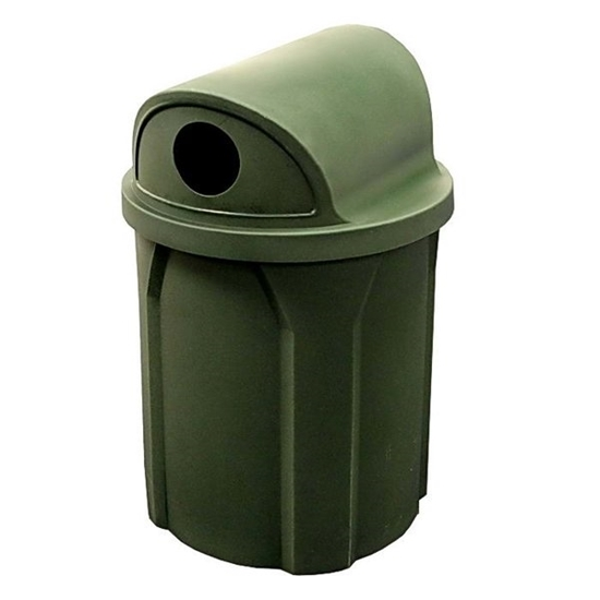 Picture of 42 Gallon Trash Receptacle with 2 way Recycling Lid and Liner