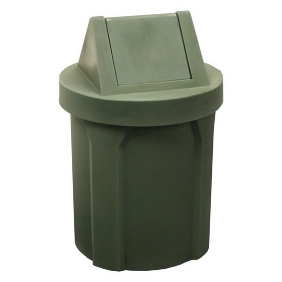 Picture of 42 Gallon Trash Can with 2 Way Swing Lid and Liner