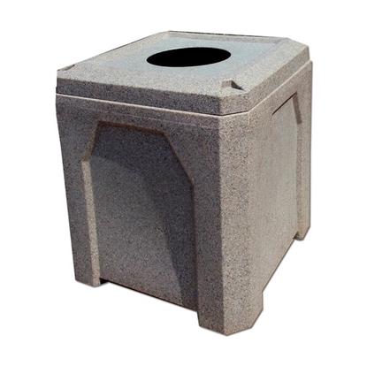 42 Gallon Square Trash Receptacle