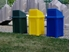 Picture of 32 Gallon Trash Can with Liner and Push Door Lid
