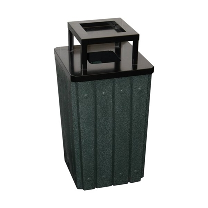 Signature 32 Gallon Trash Can Steel Ash-top