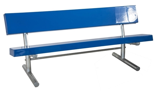 Picture of 15 ft. Fiberglass Bench with Back - Welded Frame - Portable