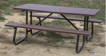 Picture of 6 ft. Recycled Plastic Picnic Table - Welded Frame - Portable