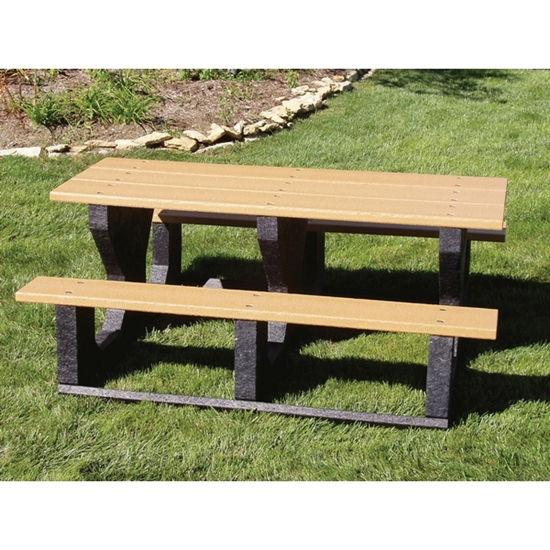 Picture of 6 ft Recycled Plastic Park Picnic Table - Portable
