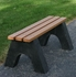 4 Ft. Recycled Plastic Bench Without Back - Slatted Base - Portable
