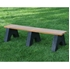 Picture of 6 Ft. Recycled Plastic Bench without Back - Slats - Portable