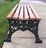 5 Ft. Renaissance Bench - Wooden Slats And Metal Frame - Portable