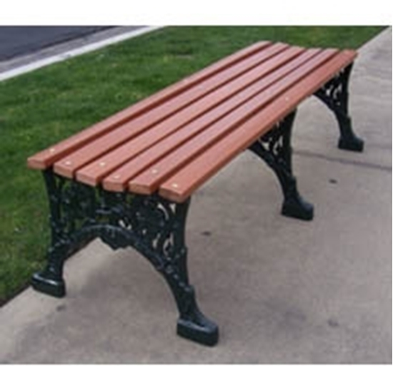 Picture of 5 Ft. Renaissance Bench - Wooden Slats and Metal Frame - Portable