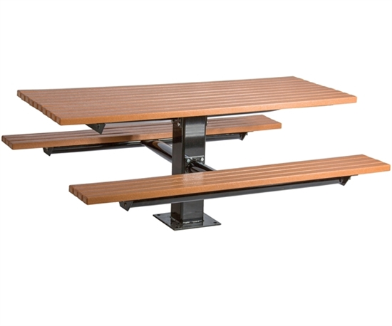 Picture of 6 ft Recycled Plastic Picnic Table - Surface or In-ground Mt