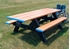 8 Ft. Double End ADA Rectangular Recycled Plastic Picnic Table - Portable
