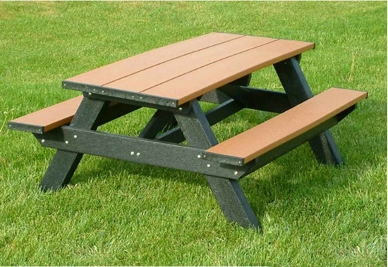 Amazing 6 Ft Recycled Plastic Heavy Duty Picnic Table Portable Squirreltailoven Fun Painted Chair Ideas Images Squirreltailovenorg