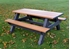 6 Ft Recycled Plastic Heavy Duty Picnic Table - Portable