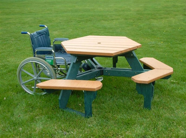 ADA Wheelchair Accessible Picnic Table Portable By Park Tables - Wheelchair picnic table