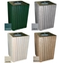 Picture of 40 Gallon Recycled Plastic Square Trash Receptacle